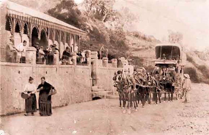 El Balneario de Lanjarón en los años veinte del siglo XX.