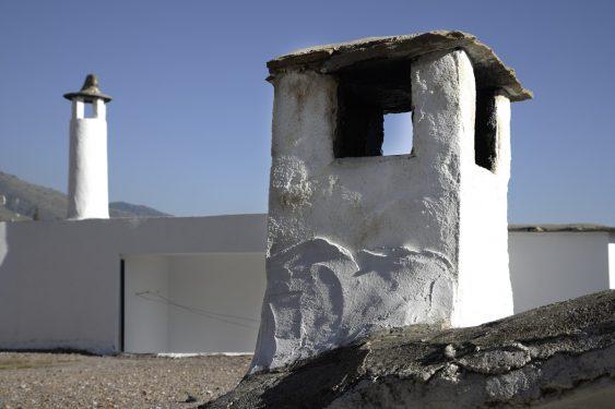 Chimenea típica de la Alpujarra granadina, en el pueblo de Cáñar.