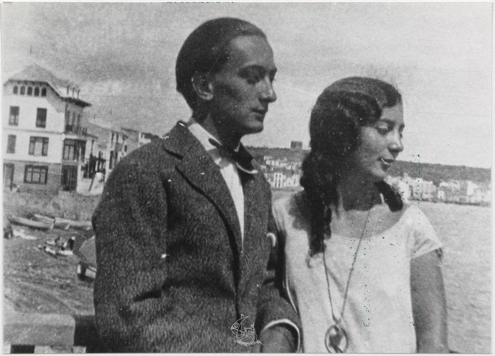 Salvador y Anna María Dalí. / Foto: Fundación Salvador Dalí.
