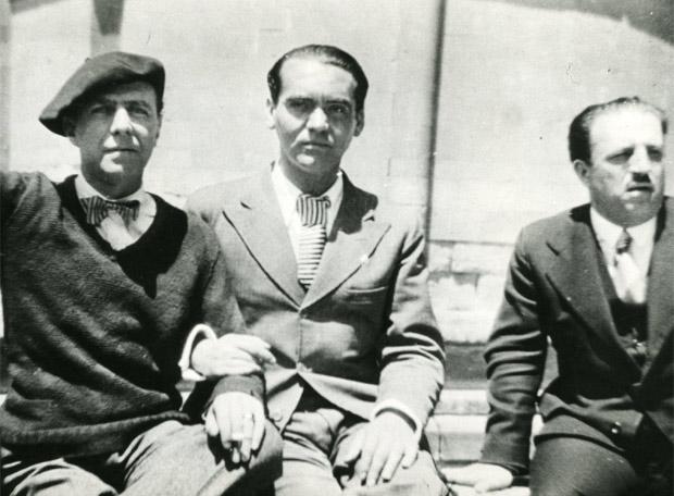 Carlos Morla Lynch, Federico García Lorca and the Chilean ambassador in Spain in 1932. / Photo: FGL Foundation