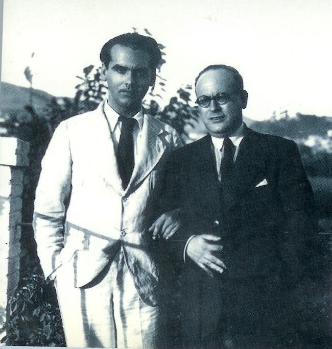 Federico García Lorca and the journalist Constantino Ruiz Carnero.