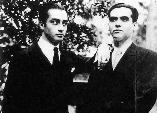 Emilio Aladrén and Federico García Lorca.