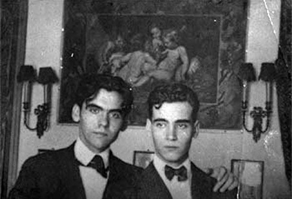 Federico y Francisco (derecha) García Lorca.