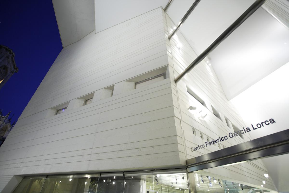 Exterior of the Federico García Lorca Center in Romanilla square, Granada.