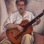 Ángel Barrios retratado por Manuel Ángeles Ortiz.