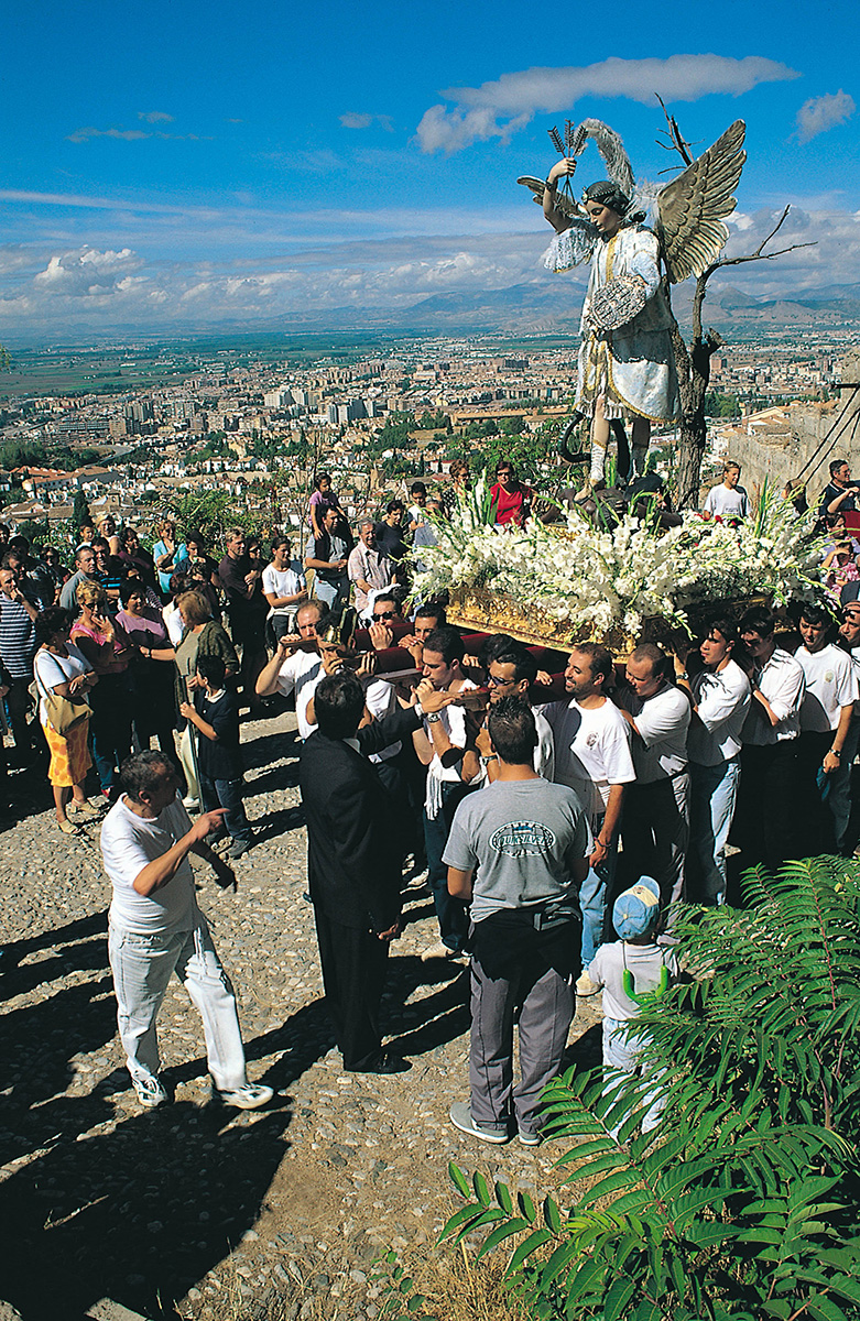 Pilgrimage of San Miguel, in the Aceituno Mountains.