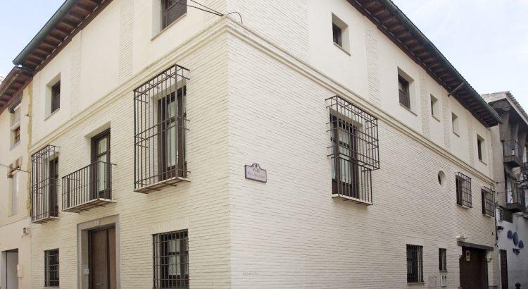 Façade of the first headquarters of the Granada Athenaeum.