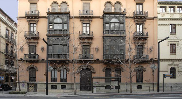 Façade of the Gran Via, 34 House in Granada, where the Federico García Lorca family lived.