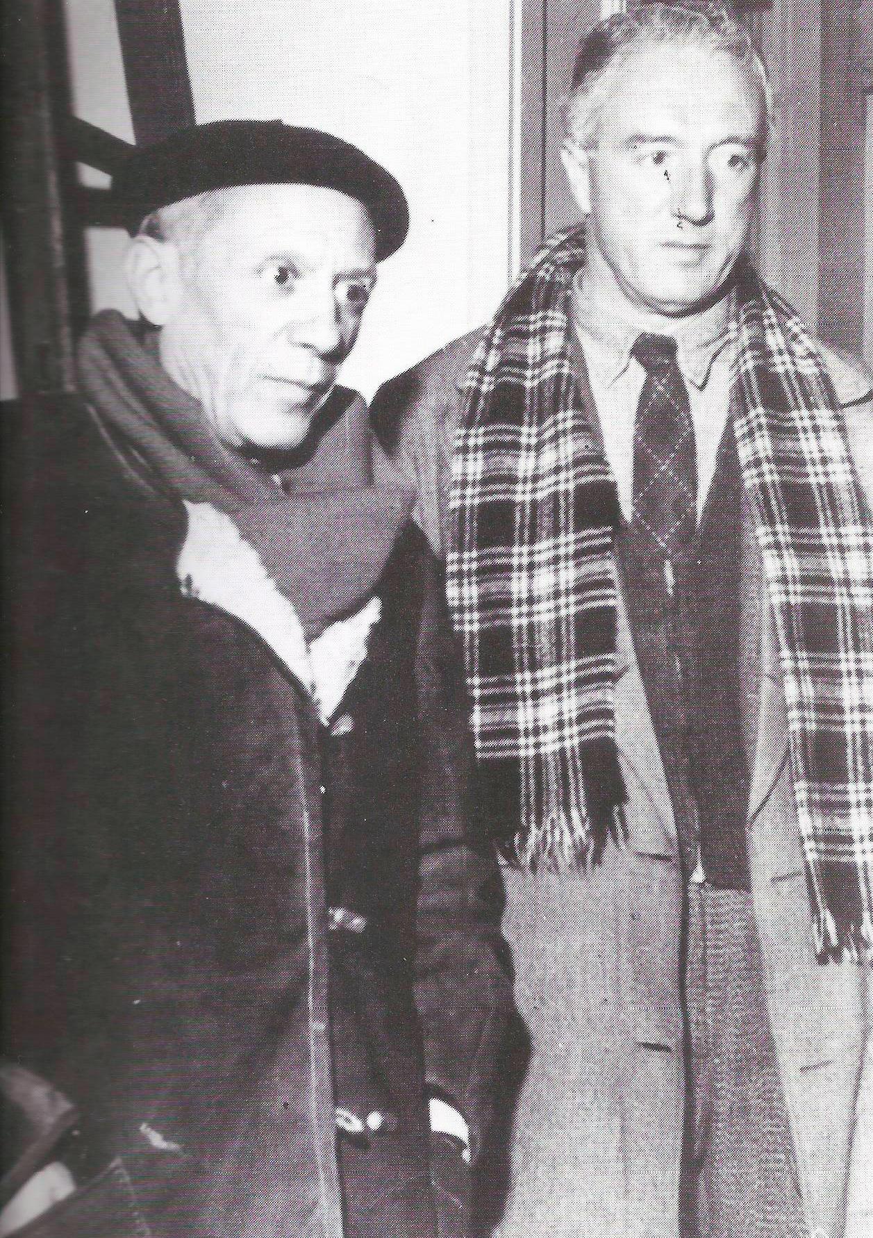 Manuel Ángeles Ortiz with Pablo Picasso.