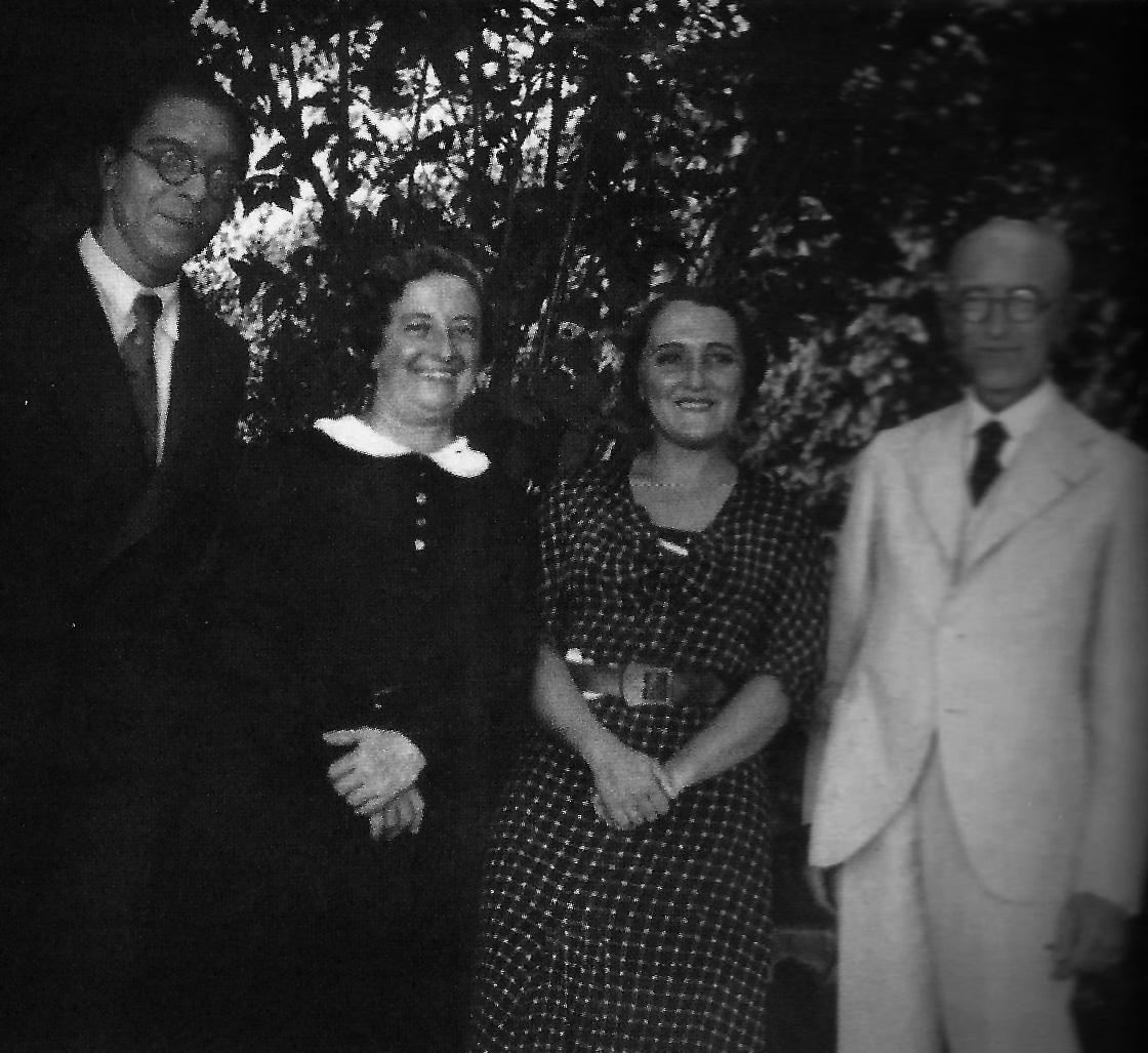 From left to right, the Galician composer Jesús Bal, María del Carmen Falla, Rosa García Ascot (Bal's wife) and Manuel de Falla.