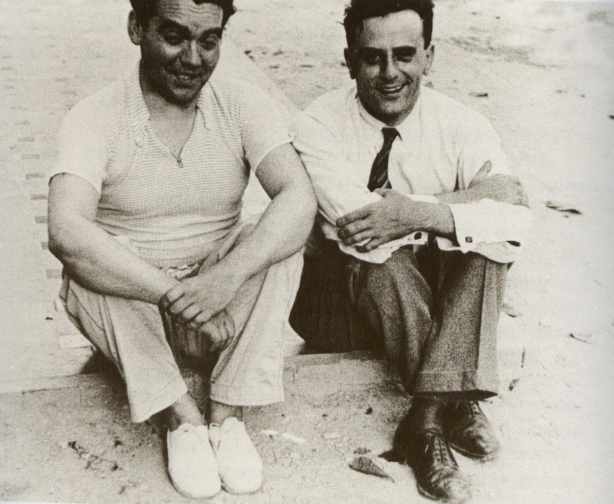 Federico García Lorca (left) and Miguel Pizarro Zambrano.
