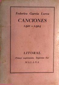 Canciones, de Federico García Lorca. / Foto: www.todocoleccion.net