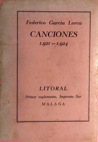 Songs, by Federico García Lorca / Photo: www.todocoleccion.net