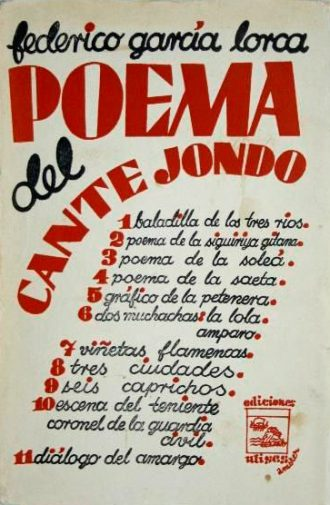 Poem of the Deep Song. Front cover of the first edition in the Ulisses publishing house. / Photo:  www.todocoleccion.net