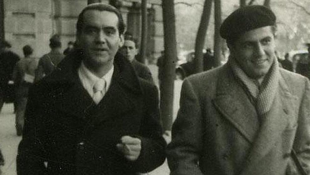 Rafael Rodríguez Rapún (right) y Federico García Lorca.