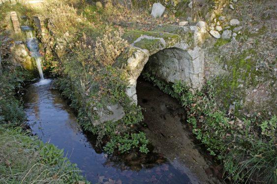 Toma de agua del molino de La Colonia, en la acequia de Aynadamar.