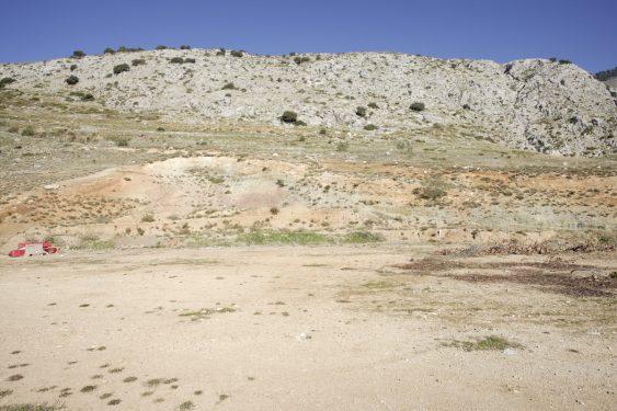 Peñón del Colorado en Alfacar (zona de búsqueda del cuerpo de García Lorca), frente al cortijo Pepino.