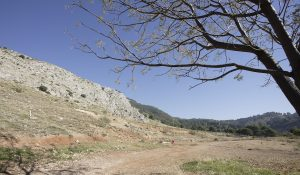 Peñón del Colorado en Alfacar (zona de la búsqueda del cuerpo de García Lorca), frente al cortijo Pepino.