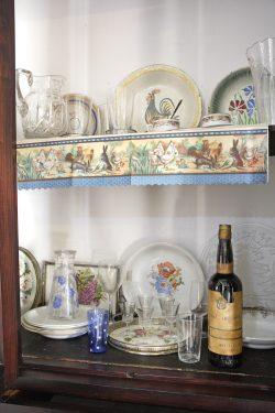 Birthplace Museum of Federico García Lorca in Fuente Vaqueros. Details of a cupboard in the dining room.