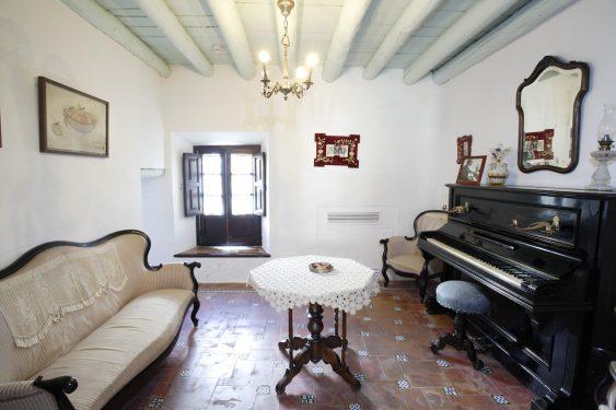 Birthplace Museum of Federico García Lorca in Fuente Vaqueros. Lorca's piano room.