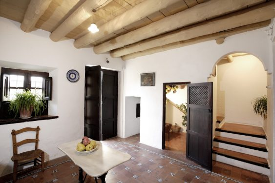Birthplace Museum of Federico García Lorca in Fuente Vaqueros. From the kitchen we can see the exit to the courtyard, passageway to the piano room, pantry and stairs to the upper floor (barn, now an exhibition hall).
