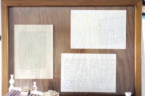 Carta de Federico García Lorca dirigida a su familia conservada en el museo de la casa de Valderrubio.