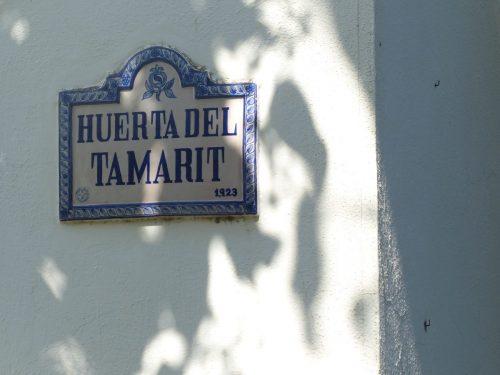 Ceramic plaque of the Huerta del Tamarit