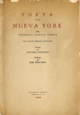 First edition of Poet in New York.