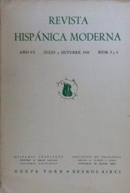 Revista Hispánica Moderna. Número en el que se publicó el Diván del Tamarit, junto a un artículo sobre el autor y varias fotos. / Foto: www.todocoleccion.net