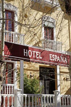 Hotel España de Lanjarón, donde se hospedaba la familia de García Lorca cuando acudía al balneario para aliviar las dolencias de doña Vicenta.
