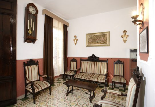 Living-Room of the Hotel España in Lanjarón, where García Lorca's family stayed when they went to the spa to alleviate Doña Vicenta's ailments.