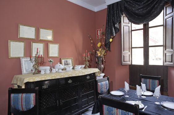 Dining-Room of the Hotel España in Lanjarón, where García Lorca's family stayed when they went to the spa to alleviate Doña Vicenta's ailments.