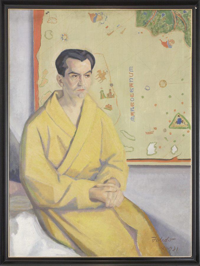 Retrato de Federico García Lorca en la Huerta de San Vicente.