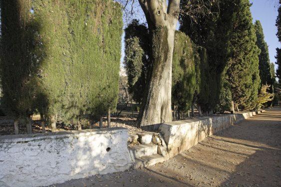 Muro original de la Huerta de San Vicente, donde pasaba los veranos la familia de Federico García Lorca.