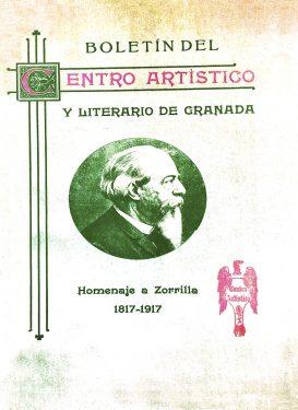 'Fantasía Simbólica'. Bulletin of the Artistic and Literary Center of Granada. Tribute to Zorrilla (1817-1917). First printed works by Federico García Lorca, 1917.
