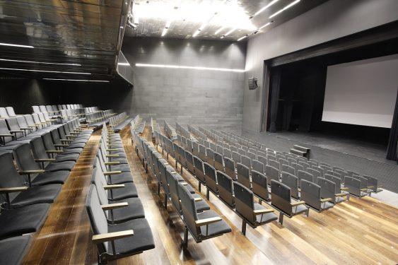 Teatro del Centro Federico García Lorca en plaza la Romanilla, Granada.