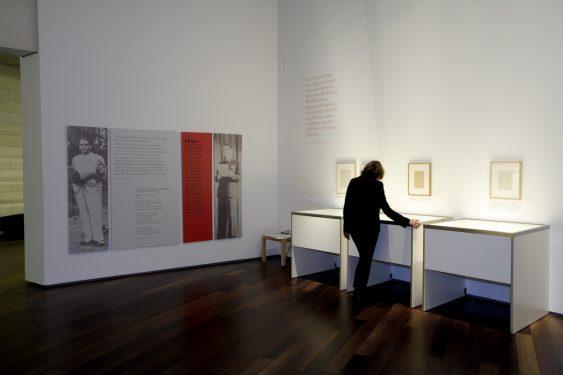 Sala de exposiciones del Centro Federico García Lorca en plaza la Romanilla, Granada.