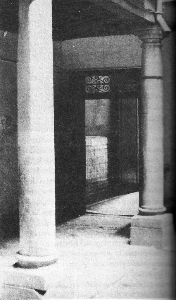 Original entrance of the Sagrado Corazón School.