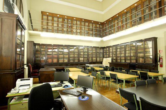 Biblioteca del Instituto Padre Suárez, en Granada, que conserva el expediente de Bachillerato de Federico García Lorca.