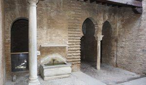 Patio del Museo Ángel Barrios donde se localizaba la taberna El Polinario.