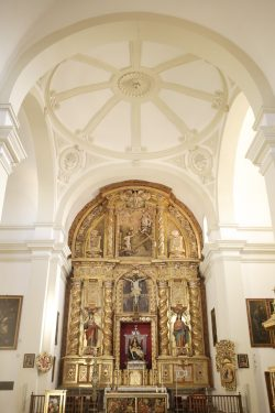 Interior of the Santa María church in the Alhambra, 16th and 17th century, next to the Ángel Barrios Museum, where El Polinario was located.