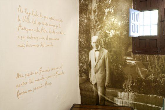 Carmen de la Antequeruela, donde vivió Manuel de Falla entre 1922 y 1939 junto a su hermana María del Carmen. Sala de exposiciones.