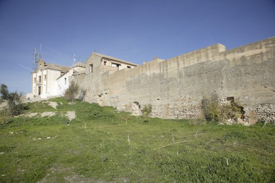 Nazari walls of Granada and the Hermitage of the Archangel Saint Michael, in the Albaycín's Aceituno mountains.