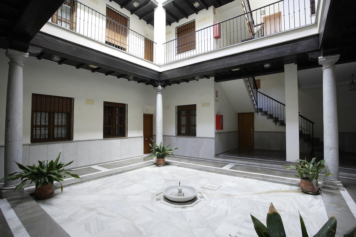 Interior patio of what used to be the home of Antonio Segura Mesa, Federico García Lorca's music teacher.
