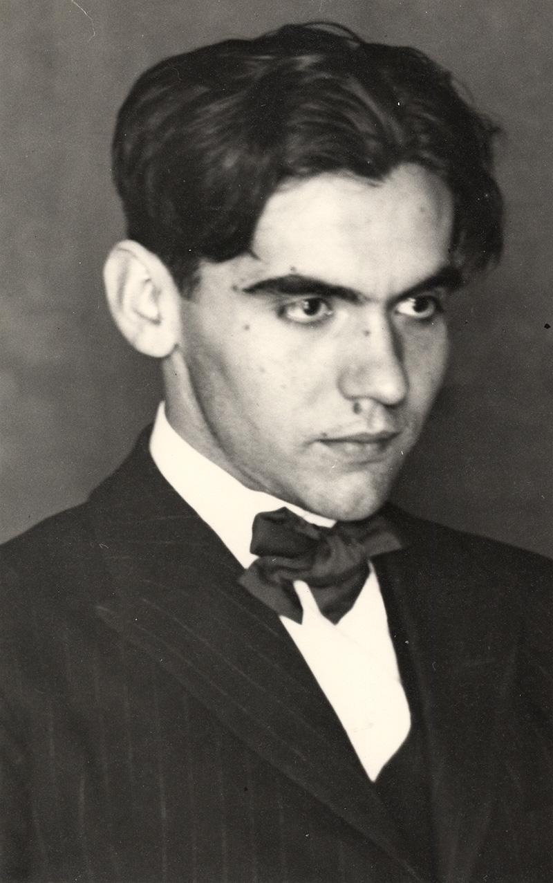 Foto de juventud de Federico García Lorca.