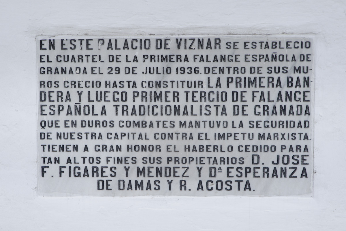 Plaque placed in the hallway of the Cuzco Palace.