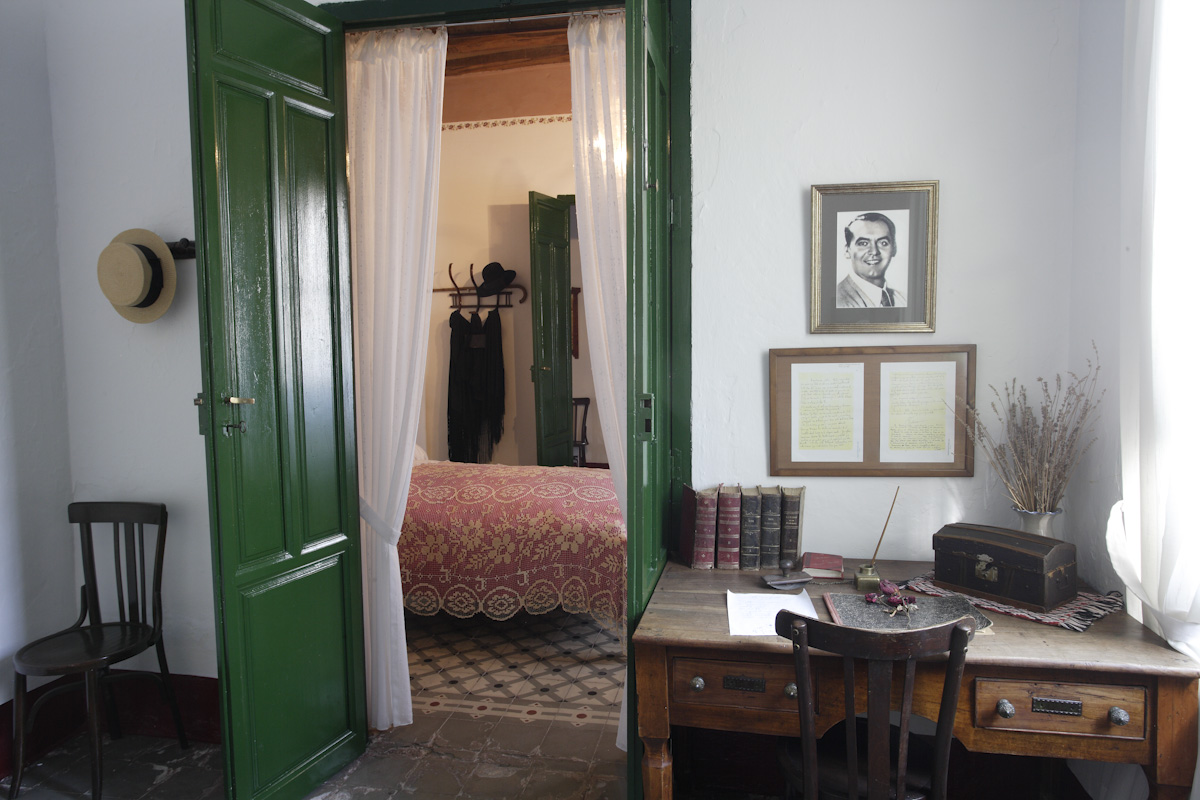Office of Federico García Lorca in his bedroom in Valderrubio, and in the background his parents' bedroom.