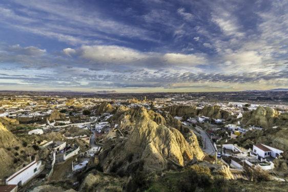 Vista general de Guadix desde el Barrio de las Cuevas.