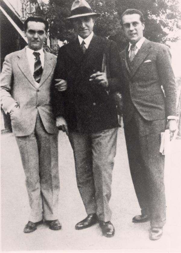Federico García Lorca, Pedro Salinas y Rafael Alberti en Madrid en 1927. / Foto: Fundación FGL
