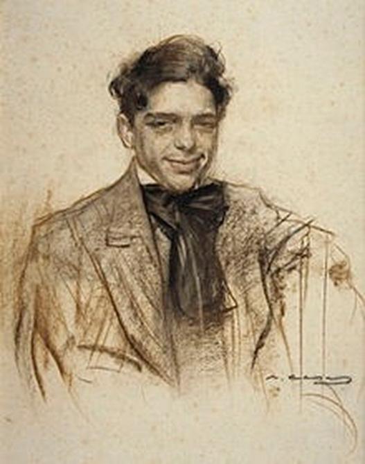 Luis Bagaría visto por Ramón Casas.